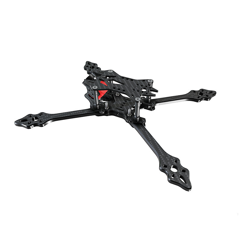 Good BCROW VX215PRO 215mm Strech X FPV Racing Frame Kit 5mm Frame Arm Carbon Fiber For RC Multirotor Accs alfa lsx5 5mm 6mm arm thickness 3k carbon fiber racing stretch x frame kit for rc multirotor fpv racing drone