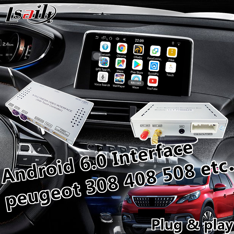 Android 6 0 Mobile phone miracast Android Navigation Video Interface for 2014 2017 Citroen C4 C5