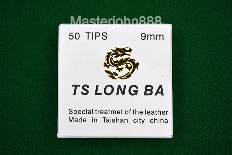 TS LONG BA 50pcs Glue-on Pool Billiards Snooker Cue Tips 9/10mm Free Shipping Wholesales