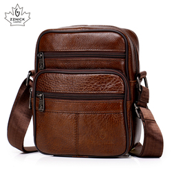 Couro genuíno crossbody saco do mensageiro dos homens venda quente masculino pequeno homem aleta moda sacos de ombro viagem dos homens novas bolsas zzick