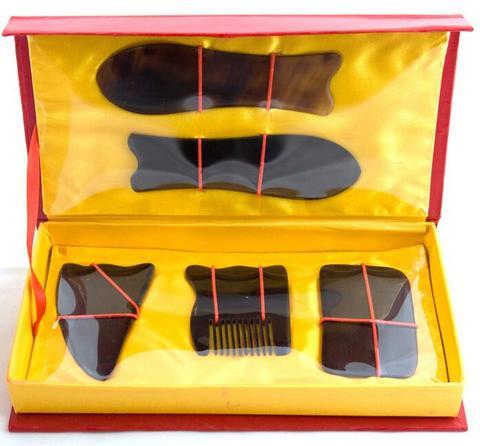 nova alta qualidade profissional acupuntura tradicional massagem tool set gua sha guasha