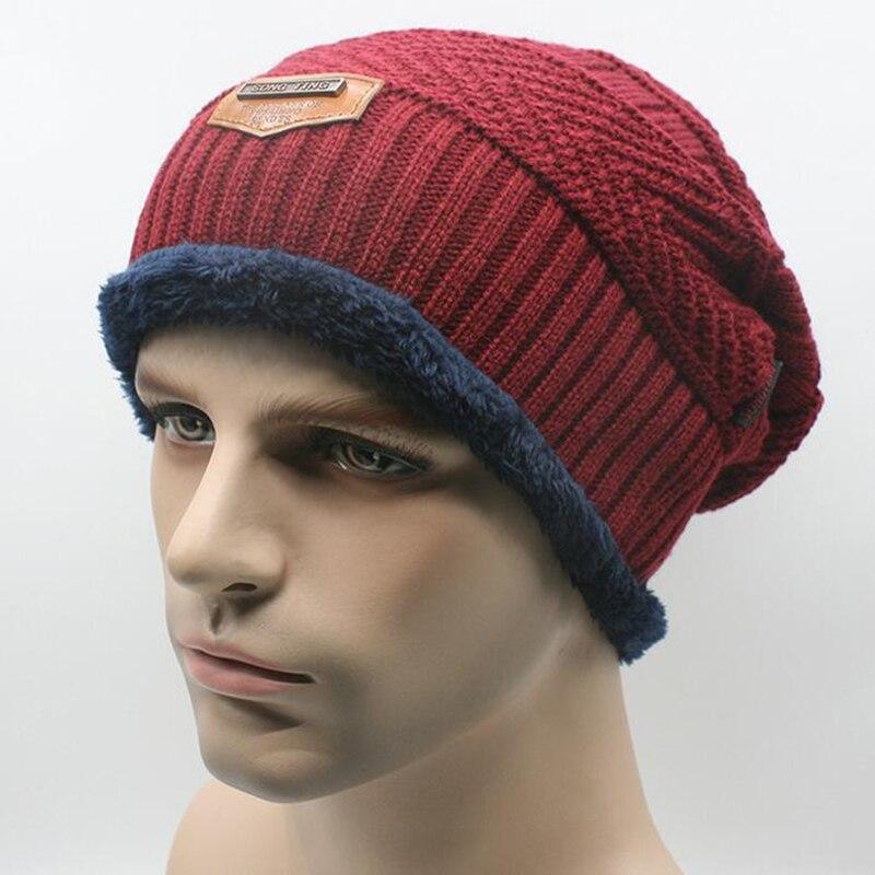 2017 Brand Beanies Knit Men's Winter Outdoor Hat Caps ...
