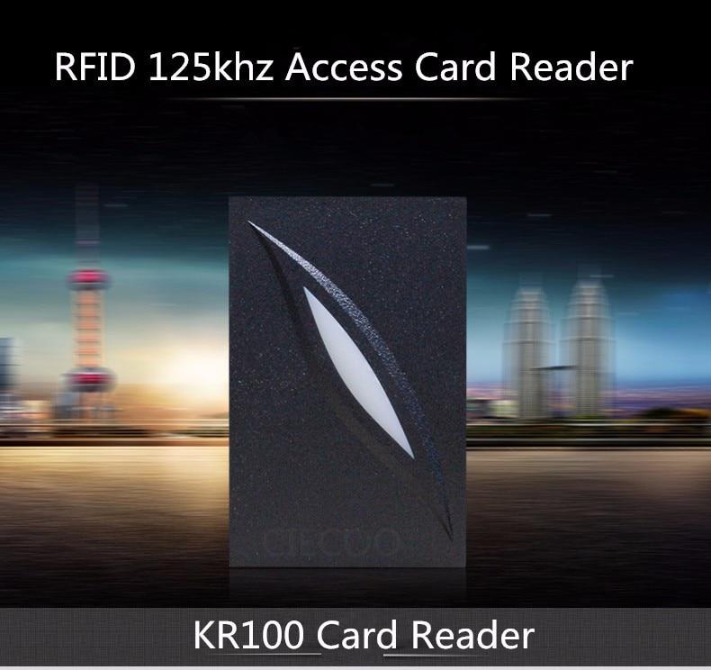 11.11 Mini size IP65 waterproof RFID card reader EM card reader for access control 125KHZ smart card reader ZK software KR101 125khz rfid card reader weigand26 card access control card reader with keypad ip65 waterproof card reader kr102 zk software