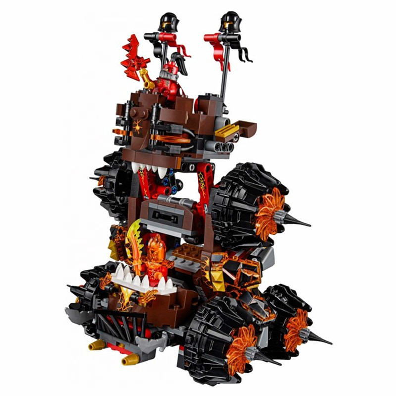 Image 5 - Compatible with Legoing 70323 Nexion knights  1237Pcs Jestro Volcano Lair Figure building blocks bricks toys for children-in Blocks from Toys & Hobbies