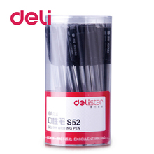 Deli 30pcs/lot Gel Pen 0.5mm Signature Pen Black Ink Business Simplicity pen School Stationery Writing Tool Office Supplies