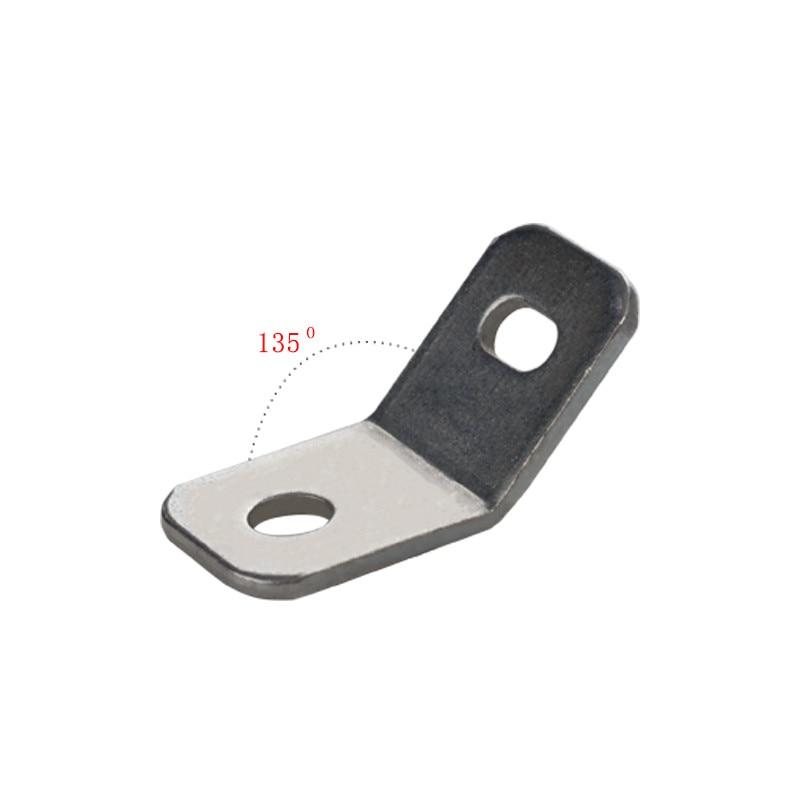 10pcs Anti-Inversion Steel Connector Bracket Board Corner Profile Furniture Hardware Fittings Connecting Sheet 135 Degree Corner