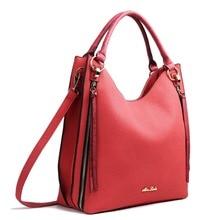 Fashionable large Size Tassel Pattern PU Leather Style Women Handbag Zip Cross Body Satchel Shoulder Hand Bag