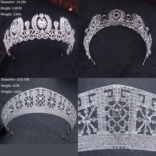 Diverse Silver Crystal Bride Tiara Crown Fashion Pearl Queen Wedding Crown Headpiece Wedding Hair Jewelry Accessories Wholesale