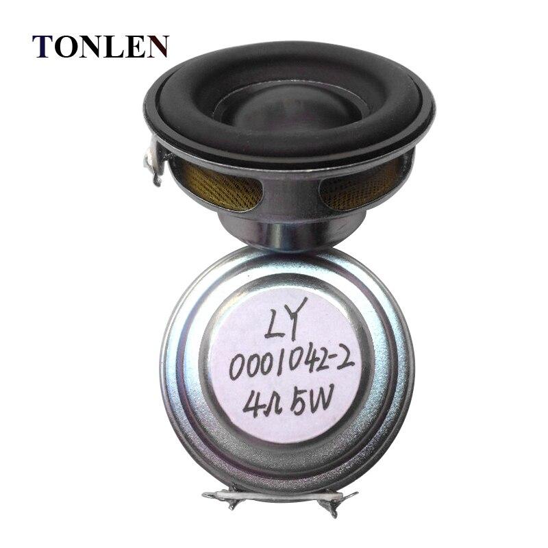 TONLEN 2Pcs 40mm Full Range Բարձրախոս 1.5inch 5W 4ohm HiFi - Դյուրակիր աուդիո և վիդեո - Լուսանկար 2