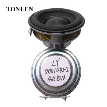 TONLEN 2Pcs 40mm Full Range Speaker 1 5inch 5W 4ohm HiFi Rubber Side  Speakers DIY Portable Bluetooth Speaker Mini Music Speakers