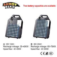 60V12AH20AH 1000W Lithium Battery With Battery Box Detachable Large capacity For Wide Tire Harley Electric Bike Battery Car