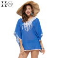HEE GRAND Women Blusas Blusa Body 2017 Summer Batwing Sleeve Long Tops Appliques Asymmetrical V-Neck Collar WOS036
