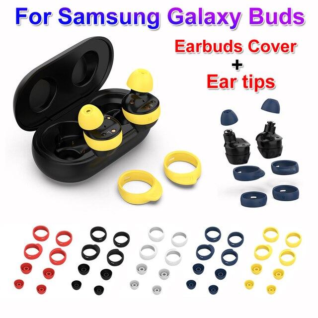 Nowe mody silikonowe douszne słuchawki douszne antypoślizgowe etui na słuchawki słuchawki douszne zestawy końcówki słuchawek dousznych do Samsung Galaxy Buds