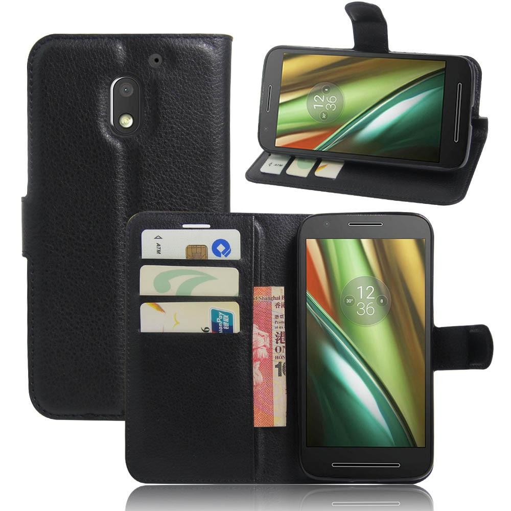 Новый кожаный мобильный телефон case для motorola moto e3 мощность роскошные вертикальный флип телефоны, аксессуары крышка отсека для карты