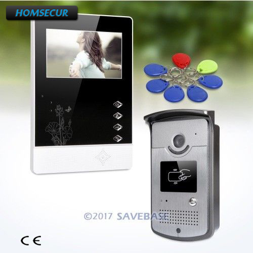 HOMSECUR 4.3inch Video Door Intercom System with Intra-monitor Audio Intercom for Home Security 1V1