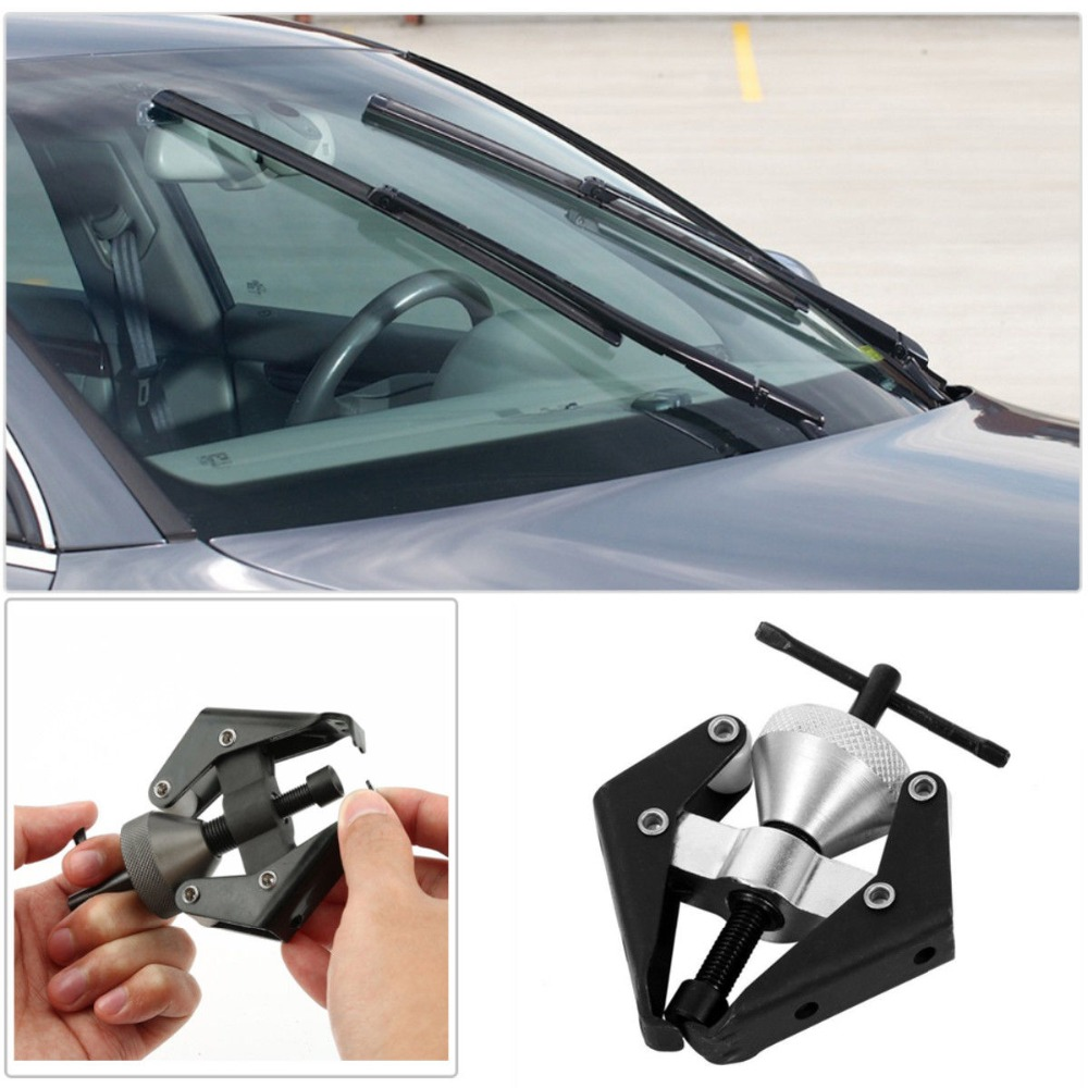 MASO Battery Terminal and Wiper Arm Puller Windscreen Wiper Arm Alternator Bearing Puller Remover Auto Repair Tool Black
