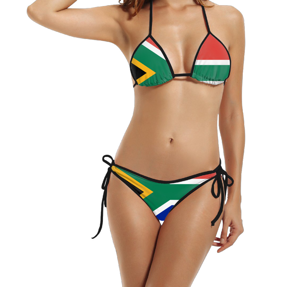 Latest Sexy Flag Of South Africa Tumblr Bathing Suit Women -8398