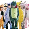 Children Kids Flannel Animal Pajamas Anime Cartoon Costumes Sleepwear Cosplay Onesie Unicorn Panda Stitch Giraffe Tiger