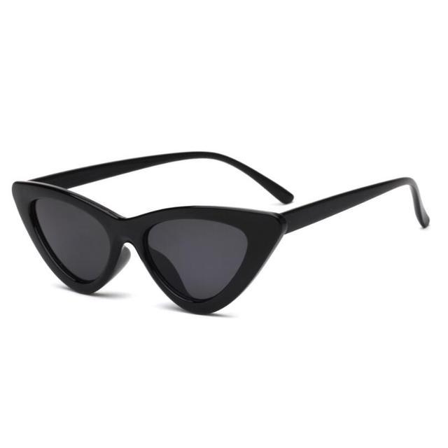 Sexy Retro Cat Eye Sunglasses Women Small Black White Triangle Vintage UV400 3