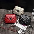 Novo 2015 mulheres da moda Crossbody bolsa Bolso Mujer Sac Femme Hand Bag para Lady alça de corrente preto pequenas Bolsas Femininas bolsa