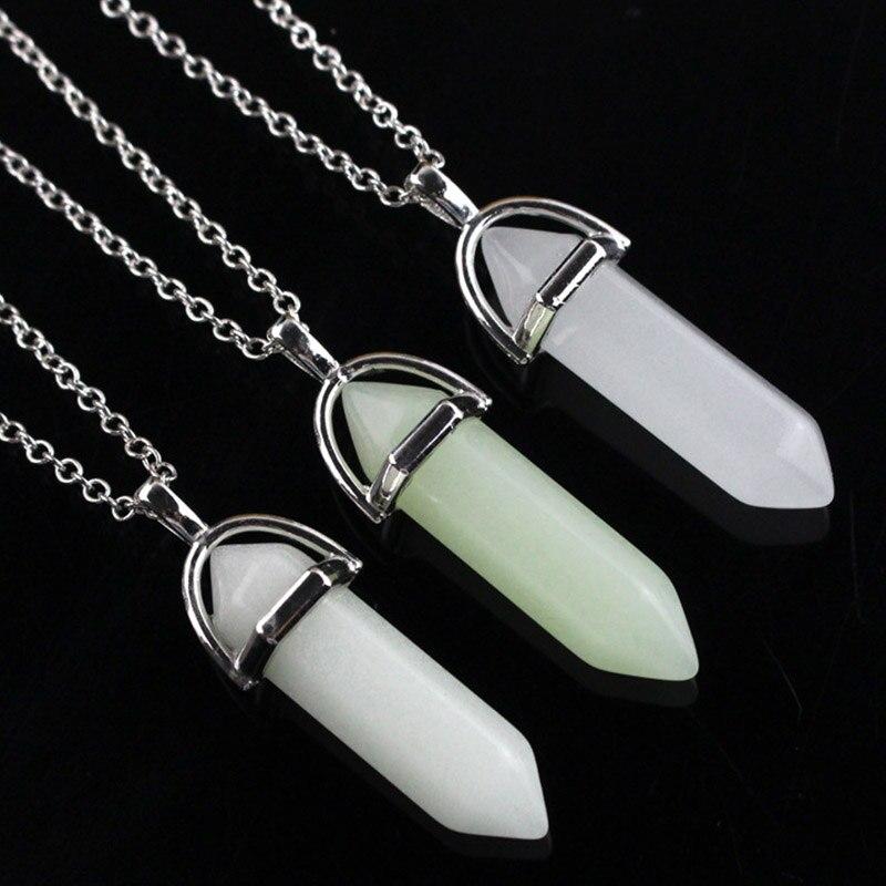 Atlantis Crystal Pendant  Glow In the Dark Necklace