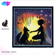 fairy fox Transparent Clear Stamps for DIY Scrapbooking/Card Making/Kids Christmas Fun Decoration Supplies bird cage transparent clear silicone stamps for diy scrapbooking card making kids fun decoration supply
