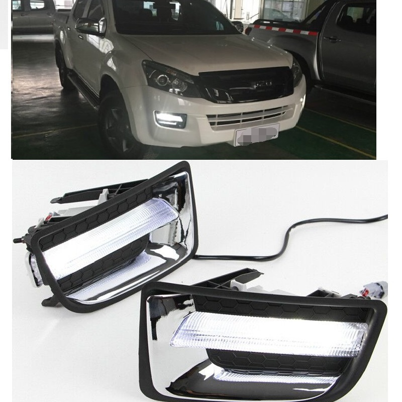 EXTERIOR AUTO LAMP LIGHT LED DRL DAYTIME LIGHTS FOG LAMPS FIT FOR ISUZU D-MAX DMAX 2012-2016 PICKUP EXTERIOR AUTO LIGHTS EXTERIOR AUTO LAMP LIGHT LED DRL DAYTIME LIGHTS FOG LAMPS FIT FOR ISUZU D-MAX DMAX 2012-2016 PICKUP EXTERIOR AUTO LIGHTS
