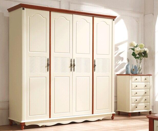 Witte Slaapkamer Meubels : Klassieke witte slaapkamer meubels europese houten garderobe