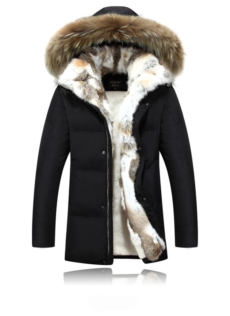 Winter Down Jacket Men Fur Parka Fashion Casual Thicken Warm Fur collar Hooded Men Women jacket&coat couple Down Jacket S-5XL (14)