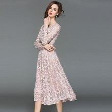 فستان سهرة سمبل بأكمام طويلة جديد الأزياء الكورية موسم الخريف