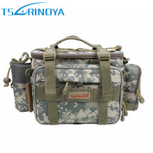 TSURINOYA Multifunctional Fishing Tackle Bags Lure Bag 40*15*19 cm 600D Fishing Backpack Bolso De Pesca Shoulder Bags Case