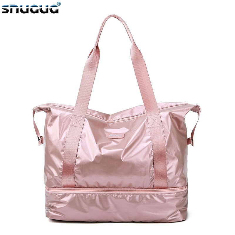 New Outdoor Sport Gym Bags Women Waterproof Travel Sports Bag Ladies Oxford Fitness Storage Tote For Shoe Men Training Bag 2019
