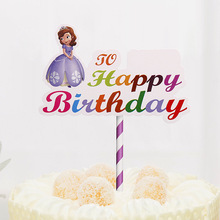 DIY Happy Birthday Cake Topper Flags PaperBoard For Celebration Party Baking Decor Hot Sale