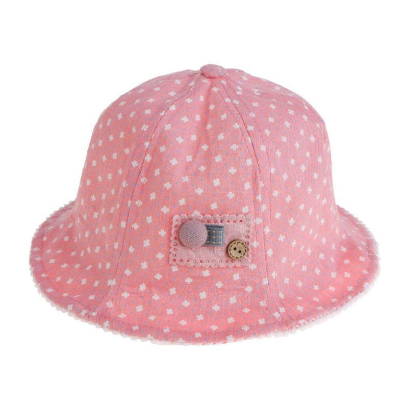 Summer Sweet Baby Polka Dot Print Cotton Cap Kid Girls Visor Sun Bucket Hats bonnet enfant Beanie