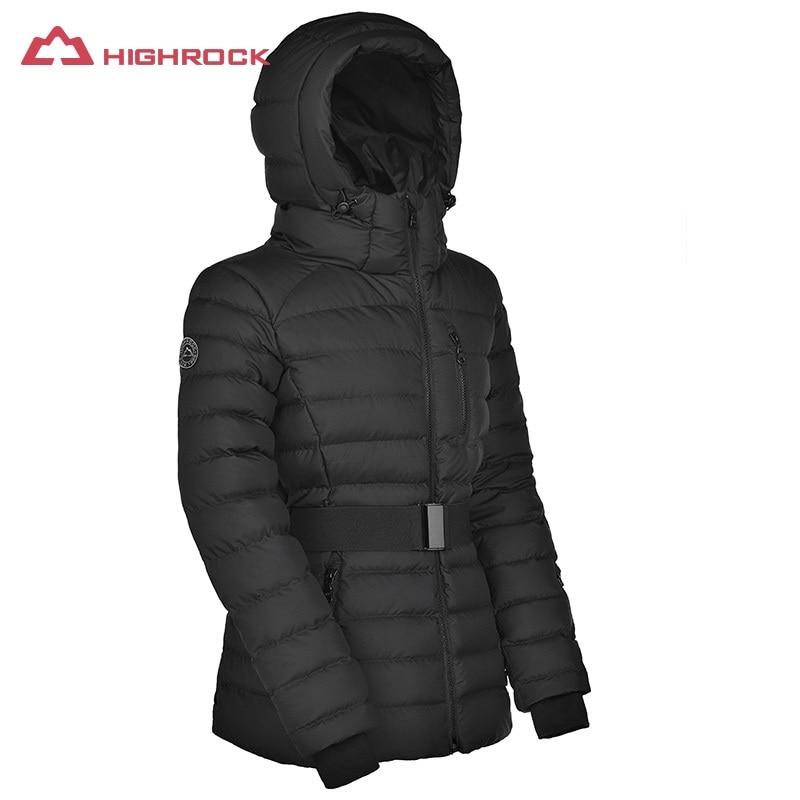 HIGHROCK women winter jacket with hood warm 700FP goose down coats thermal women's down jackets female outdoor ski hiking jacket недорго, оригинальная цена