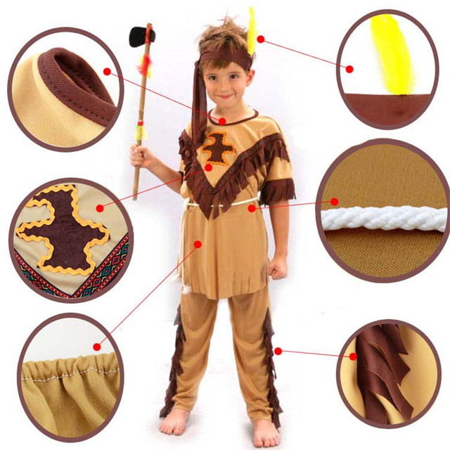 Children Native American Indian Cosplay Costume