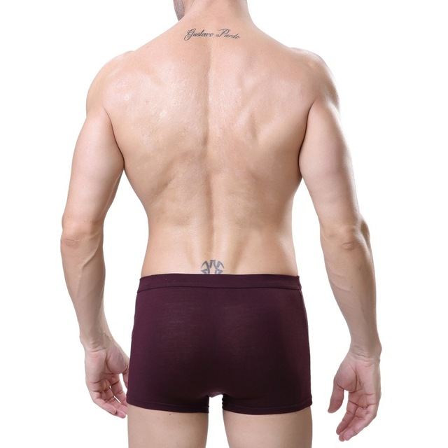 Bamboo Fiber Boxer Men 2018 Fashion Plus Size Comfortable Soft Breathable Cueca Masculina Sexy Man High Elastic Underwear