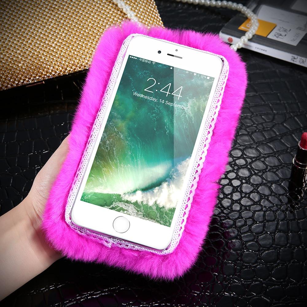 Kisscase kelinci berbulu case untuk iphone 5 s 5 se coque mewah - Aksesori dan suku cadang ponsel - Foto 4
