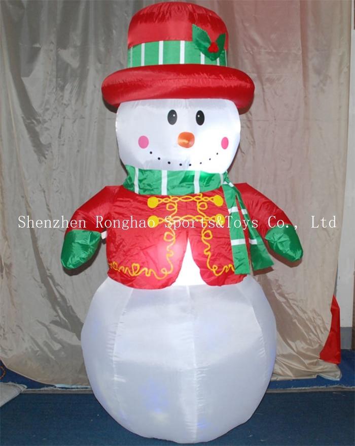 Christmas Airblown Inflatable 6 Snowman Illuminated LED Lighted กระพริบลานกลางแจ้งสนามหญ้าตกแต่งวันหยุด-ใน จี้และเครื่องประดับแบบห้อย จาก บ้านและสวน บน   3