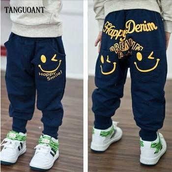 Baby Boy's Smile Printed Cotton Pants 1