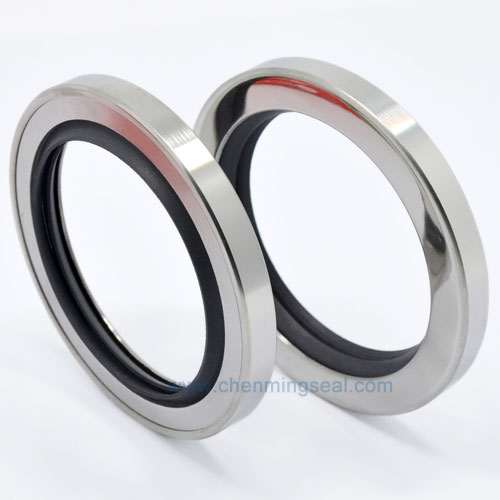 US $8 0  42*55*8 mm Rotary Shaft Oil Seal with Dual PTFE Sealing Lip  Stainless Steel Ring For Compressors Pumps Mixers Actuators-in Seals from