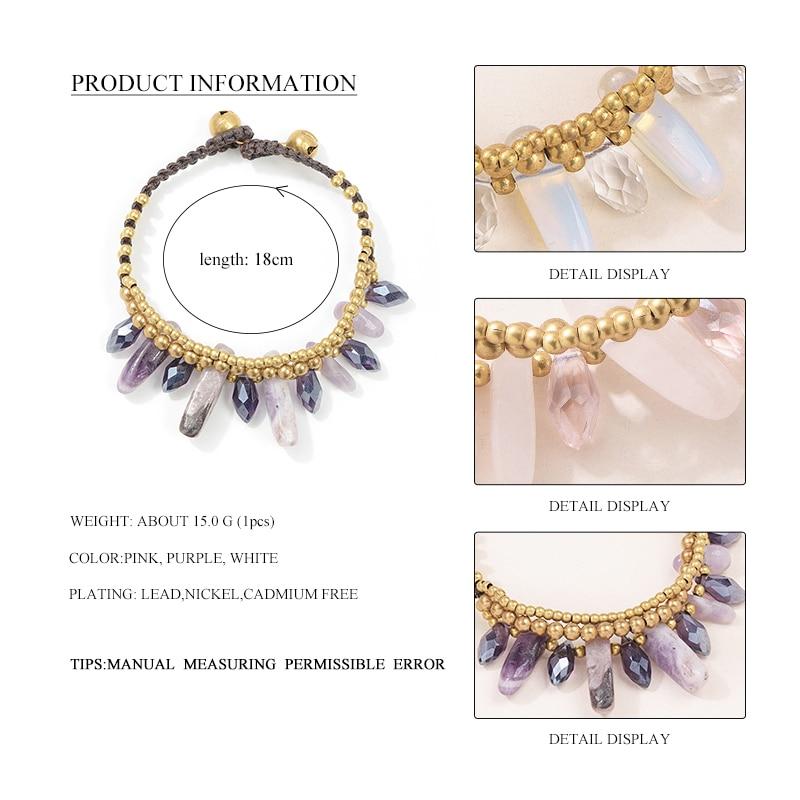 Purple Pink White Charm Beaded Bracelets 1