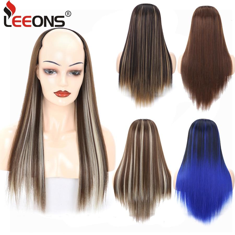 Leeons Hair Extensions Clip In Hair Women U Part Wigs