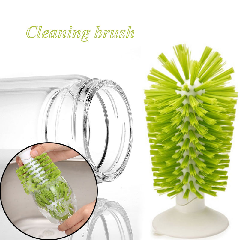 Bottle Brush Cup Brush Glass Cup ABS Cleaning Brush Water Cup Kitchen Creative Convenient Bottle Cleaner Wine Cup Economic