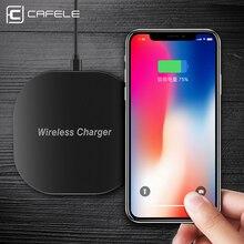 Cafele QI Беспроводной Зарядное устройство для iPhone X 10 8 плюс Samsung S8 S7 Edge быстрая Универсальный Беспроводной зарядного устройства Зарядное устройство для iphone x 8