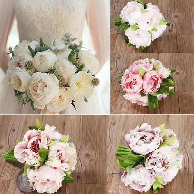 Light Pink And Wine Artificial Roses