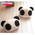 Auto Care 2pcs Cute Lovely Panda Pattern Car Seat Neck Cushion Soft Back Cushion Interior Accessories