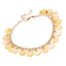 1pc Unique Beautiful gilded shell Anklet Bracelet Foot Jewelry pulseras tobilleras anklets Chain on foot