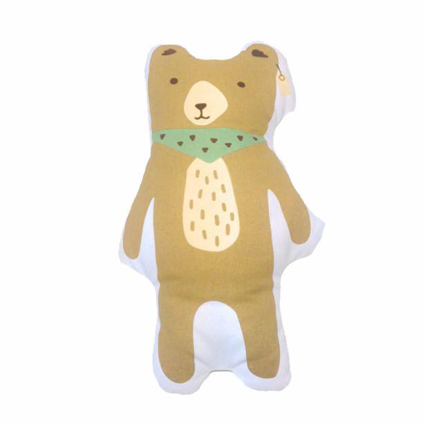 Novo Urso Marrom Travesseiro Coxim Da Lona Decoração Do Quarto Do Bebê Criança Algodão Crianças Cama de Pelúcia Macia Quente Presente Das Crianças