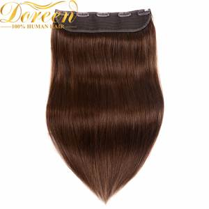 One-Piece Human-Hair-Extensions Clip-In Brazilian 4--8 Remy Doreen 2-Machine-Made Thicker